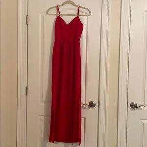 Amanda Uprichard Red Maxi Dress